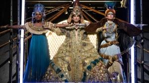 Queen Nefertiti, Akhnaten, and Queen Tye